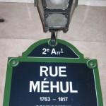 signe - rue Méhul